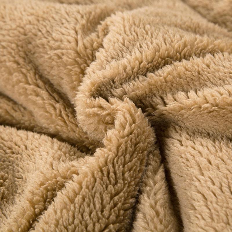 Chăn lông cừu Nekio Nhật Bản Vàng Be