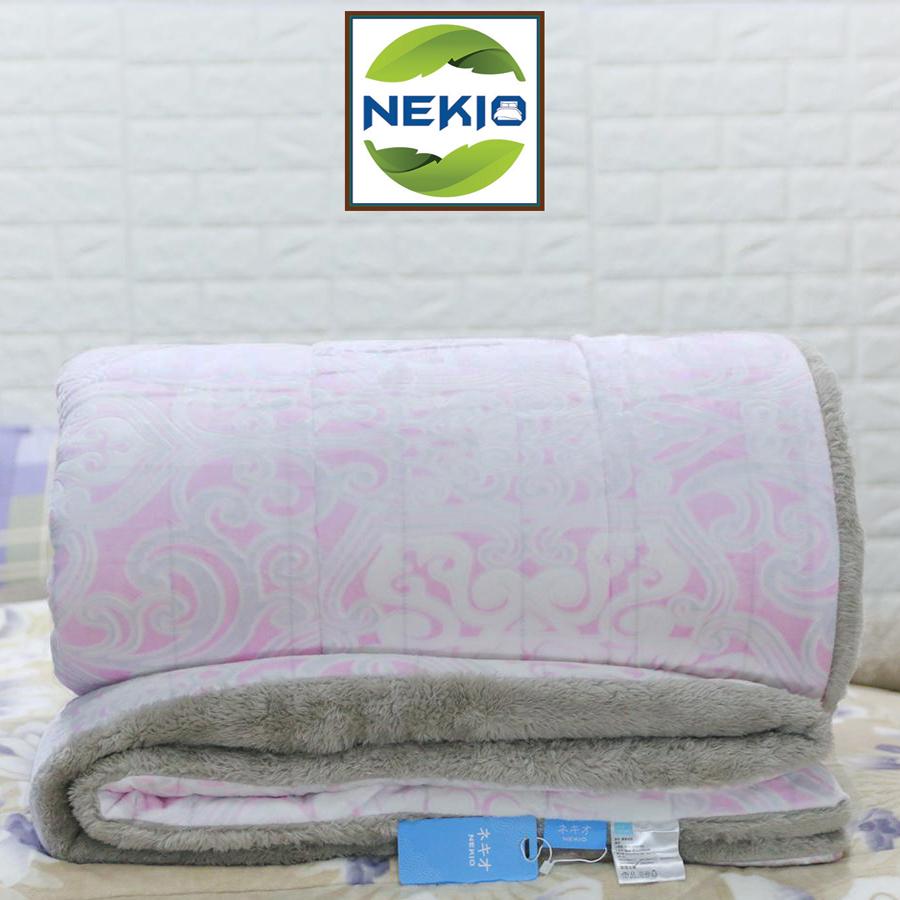 Chăn lông cừu Nekio Nhật Bản Hồng Họa Tiết